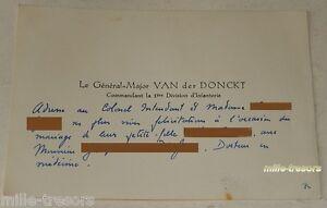 CARTE-de-CORRESPONDANCE-General-Major-VAN-der-DONCKT-pour-felicitations-MARIAGE