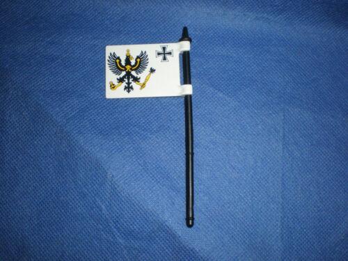Playmobil preußische Fahne Flagge mit Stange Soldat preußischer Soldat top
