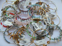 Alex And Ani Wire Bangle - You Choose Retired Beaded Turtle Saint Set