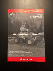 2006 honda trx90 sportrax 90 atv owners manual 31hp2600 ebay rh ebay com honda trx 90 manual clutch honda trx 90 manual pdf