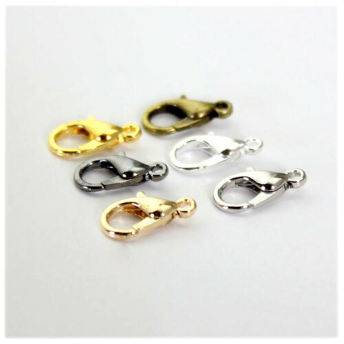100x 10-18mm Lobster Claw Clasps Alloy DIY Jewelry Fingdings Connector Necklace