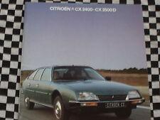 brochure CITROEN CX GTI PALLAS LIMOUSINE + DIESEL 1980 / COULEURS FRANCAIS
