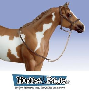Breyer-Horse-Accessory-Traditional-Leather-Halter-With-Lead-Rope-2456