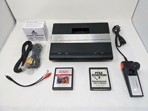 Atari-7800-Console-w-Games-Pwr-Supply-UAV-S-Video-RCA-Output-amp-Blue-Pwr-LED