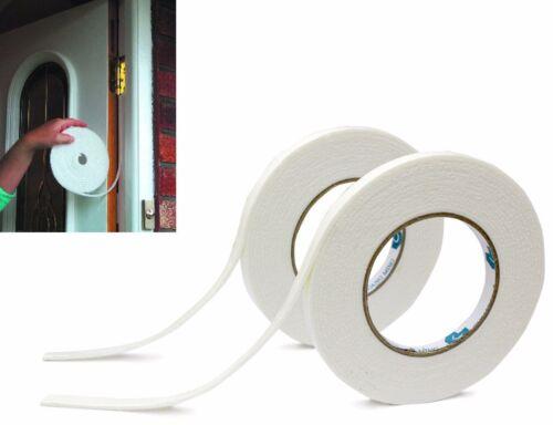 2x 5M Foam Draught Excluder Weather Seal Strip Tape Door Window Draft Insulation