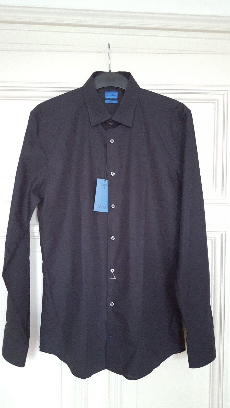 NEU JOOP  Hemd, Größe 40 Slim Fit, schwarz, langarm, Herrenhemd