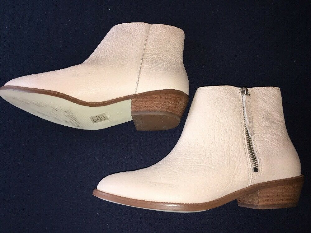 J Crew 8.5 Frankie Tumbled Leather Ankle Boots 228 E0774 NEW Desert Pink