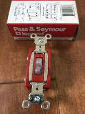 Pass Amp Seymour 20a 120v Toggle Light Switch Illuminated Lighted Spec Grade