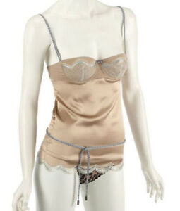 Dolce & Gabbana Silk Top With Integrated Bra BNWT