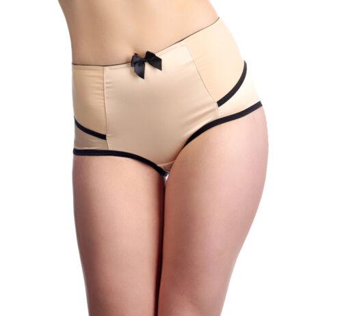 Affinitas Parfait Women/'s Charlotte Satin Highwaist Brief Panty Lingerie 6917