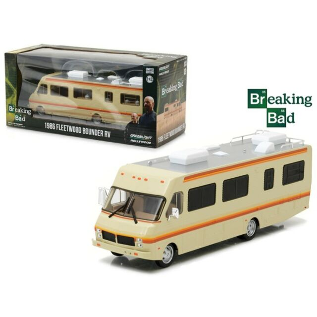 BREAKING BAD Camper 1986 FLEETWOOD BOUNDER RV Scale 1:43 GREENLIGHT Collectibles