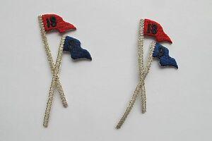 3220-Lot-2Pcs-Golf-Club-Flag-No-9-No-18-Embroidery-Iron-On-Applique-Patch