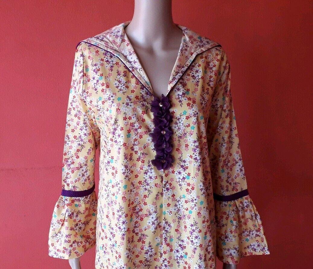 Damen Langarm Djellaba aus Baumwolle Sommer kleid mit Kapuze islamisch Abaya...