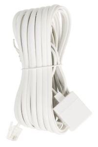 Bon CœUr Glaxio Telecom Câble D'extension Rj11 Mâle à Femelle Rj11 5 M Blanc-afficher Le Titre D'origine Saveur Aromatique