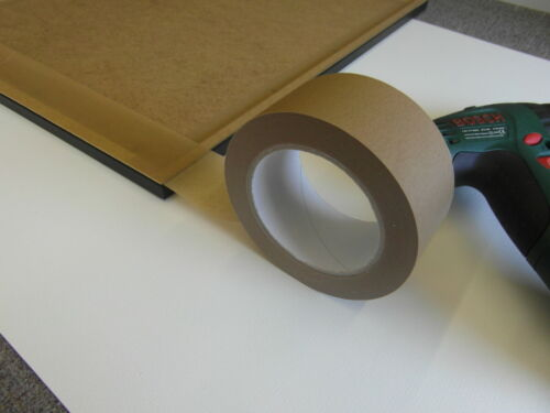 1 x 50mm Brown Adhesive Backing Tape Picture Framing 50m