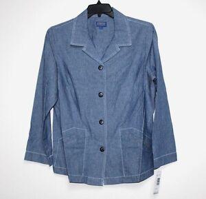 Blue Nwt chemise en Denim chambray col Pendleton coton 1x OqwxCUCfZ