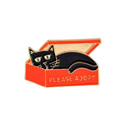 Cute Underwear Parrot Ghost Cat Brooch Denim Jacket Pin Buckle Shirt Badges