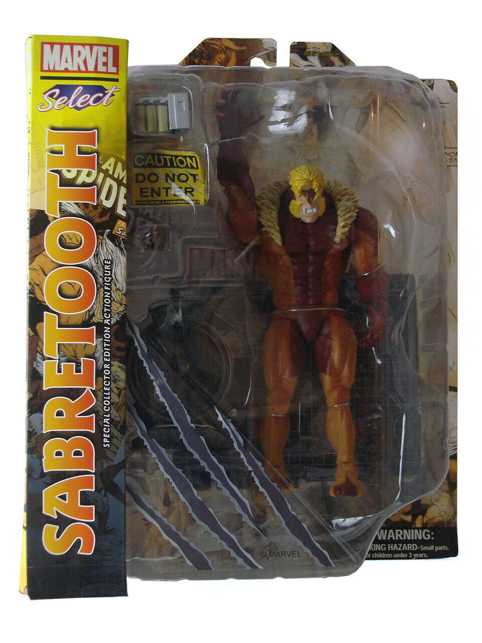 Marvel Select Sabretooth Collectors Action Figure Classic Costume X-Men New