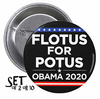 Michelle Obama For President Set Of Pinback Buttons Or Magnets Is It 2020 1598