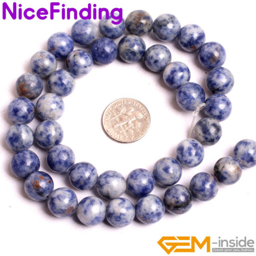 """Natural Sodalite Wholesale Lots  15/"""" Stone Beads for Jewelry Making Nicefinding"""