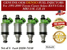 Reman x1 OEM DENSO #23250-74140 Fuel Injector for 1993-1999 Toyota Camry 2.2L I4