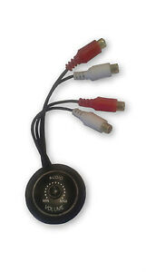 Z15V4BVOL-in-line-Volume-Control-Knob-Mount-for-low-level-audio-RCA-Inputs-NEW