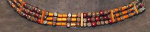 NEW-BROWN-RED-WOOD-BEADED-HAT-BAND-ADJUSTABLE-CORD-NEW