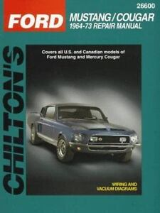 Total car care repair manuals ford mustang and cougar 1964 73 by stock photo fandeluxe Image collections
