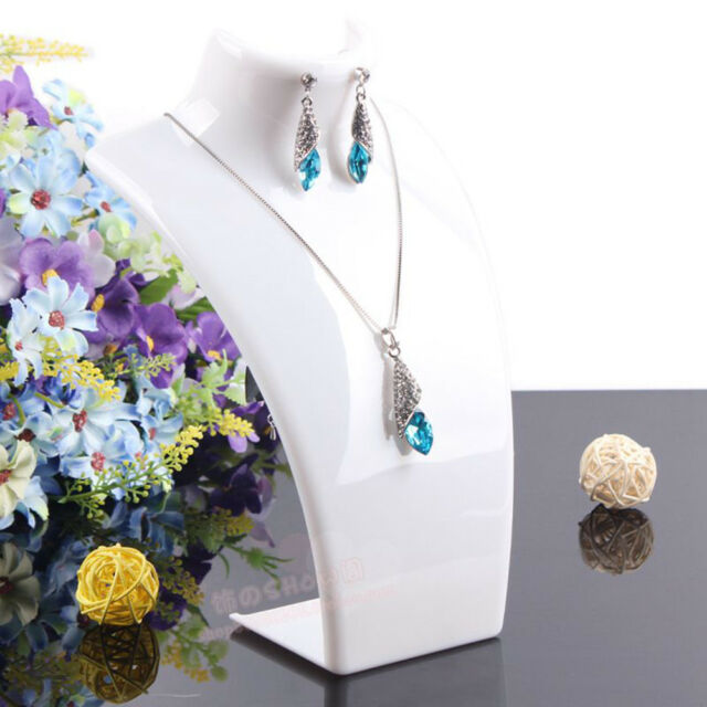 Necklace Chain Pendant Earring Jewelry Bust Display Holder Stand Rack Showcase