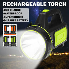 Rechargeable Dual LED Candle Power Work Light Torch Candle Spotlight Hand Lamp