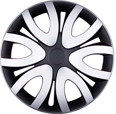 "Negro Para Suzuki Coche Toyota Auris Tapacubos 16/"" VR 4 X Funda Ajuste de rueda Plata"
