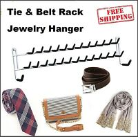 Jewelry Hanger Hanging Tie Rack Wall Mount Necklace Bracelets Ring Organizer