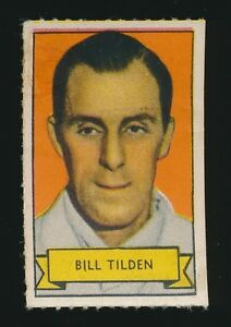 1937 Kellogg's PEP Cereal Stamps -BILL TILDEN (Tennis Champion) *Tough*