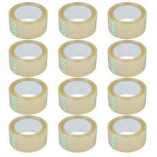12 Rolls 27mil 60yards Heavy Duty Carton Packing Shipping Sealing Tape 180ft
