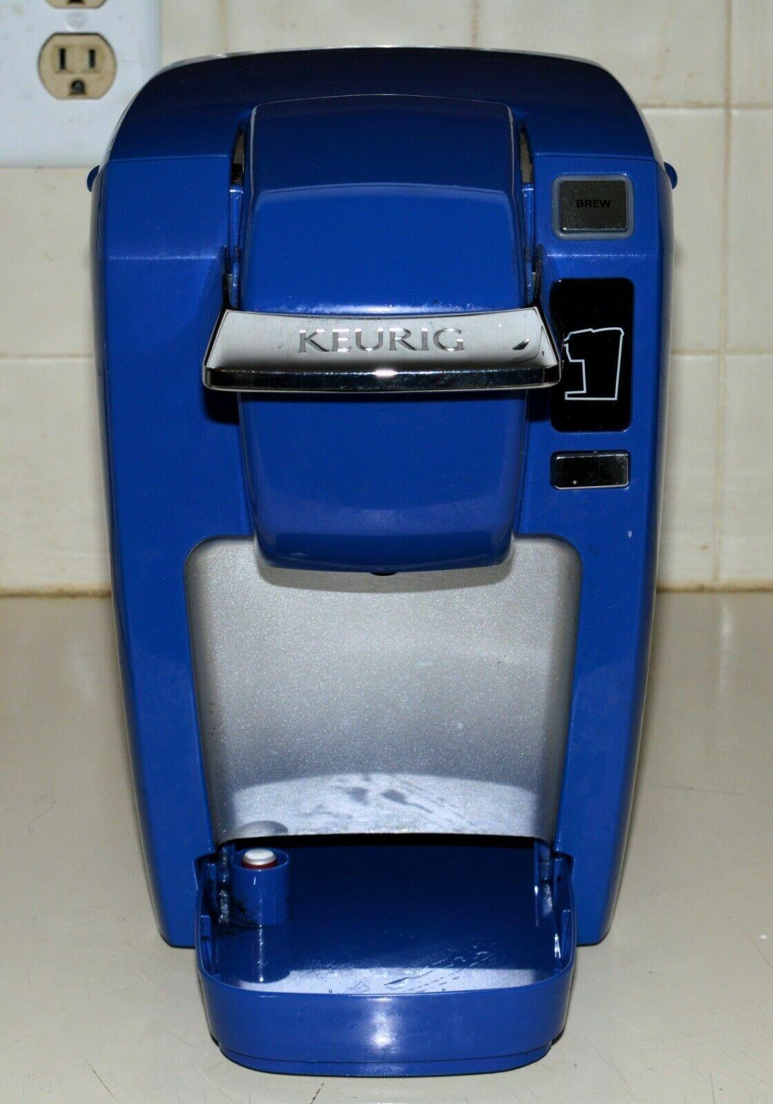 Keurig K10 Mini Plus Cafetière Brewing système rare Royal Bleu Couleur