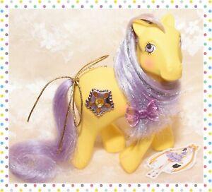 ❤️My Little Pony MLP G1 Vtg Princess Starburst Amber Star Jewel Tinsel 1987❤️