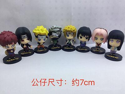8Pcs//Set Naruto Jiraiya Kakashi Gaara Itachi PVC Figure Collectible Model Toy NB