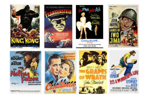 1//24 1//25 G scale model classic movie theater posters