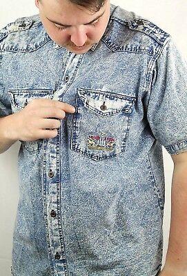LS & CO stonewashed 90er Herrenhemd Jeans Hemd 90er TRUE VINTAGE 90s mens shirt   eBay