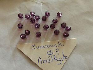 lot de 20 perle en cristal de SWAROVSKI marron topaze diam 7 mm