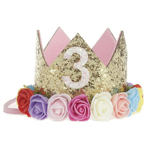 Princess Baby Boy Girl Colorful Flower Crown Garland Tiara Headband Birthday