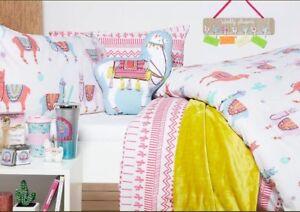 Image Is Loading Primark Lulu Llama Print Single Duvet Set Bedding