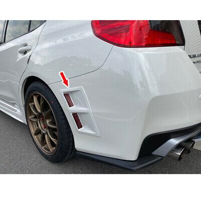 Painted For Subaru WRX STI 4th 15-18 Sedan Rear Exhaust Pipe Cover Trim 2pcs