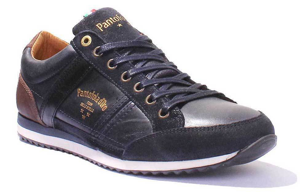 Pantofola d'Oro Matera Uomo Men Tortoise Shell Leather Suede Trainers