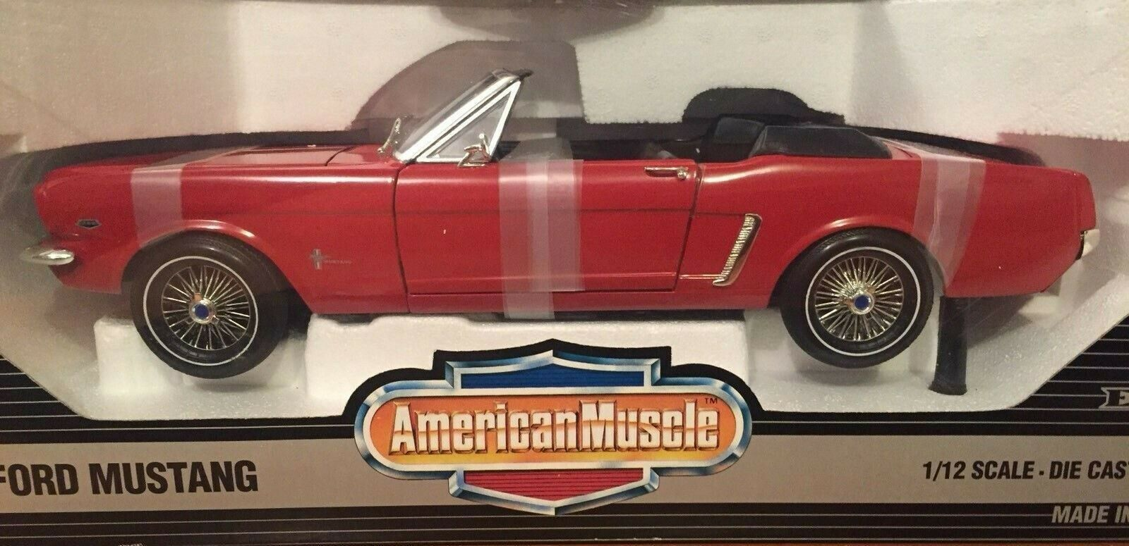 WOW EXTREMELY RARE Ford Mustang Congreenible Open Top 1964 Red 1 12 Ertl-F40