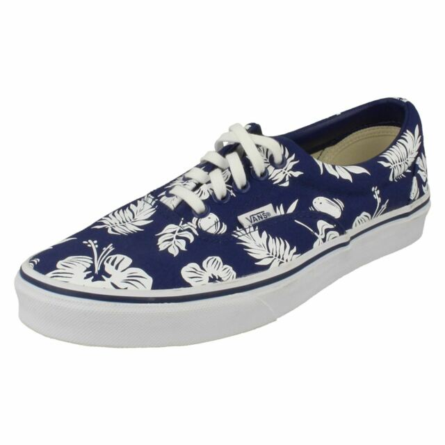 77c0992841 Mens VANS Tropical Print Lace up Canvas Trainers Era UK 9.5 44 ...