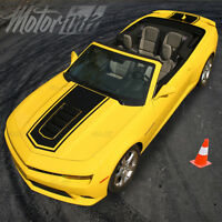 2014 2015 Chevy Camaro Convertible Solid Center Rally Stripes Ss Hood Trunk 16