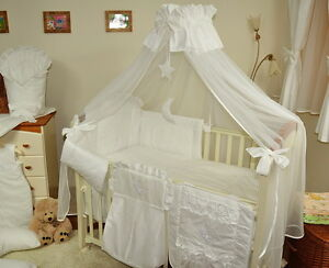 Image is loading LUXURY-BABY-COT-COT-BED-COTBED-CANOPY-DRAPE- & LUXURY BABY COT/COT BED/COTBED CANOPY DRAPE BIG cover4sides+FREE ...
