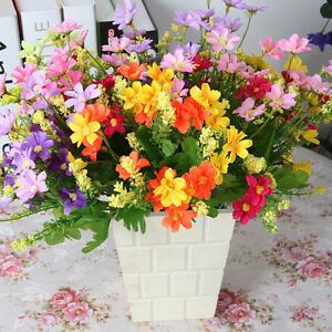 Image Is Loading 1 Bunch Artificial Fake Silk Daisy Flower Bouquet