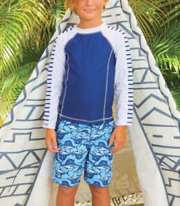 Cabana Life Little Boys 2 pc Set Rashguard